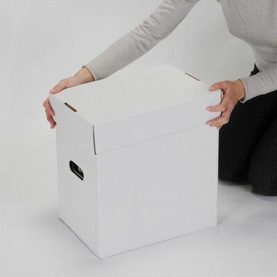 LP用蓋付きBOXセット 白 5箱セット(LP用 12インチレコード ダンボールボックス 段ボールBOX ダンボールBOX 段ボール箱 ダンボール箱 段ボール収納 ダンボール収納 収納ボックス 収納BOX フタ付き) /マルゲリータ