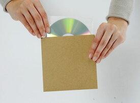 CD用 厚紙ジャケット クラフト茶+ CD用 不織布 インナージャケット 50組セット/CD-027-H /マルゲリータ