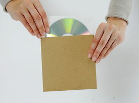 CD用 厚紙ジャケット クラフト茶+ CD用 不織布 インナージャケット 100組セット/CD-027 /マルゲリータ
