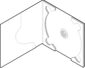CD用 紙ケース ポケット付き(白)+OPP袋 50組セット/CD-030 /マルゲリータ