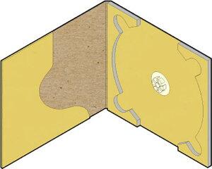 CD用 紙ケース ポケット付き(クラフト)+OPP袋 50組セット/CD-031 /マルゲリータ