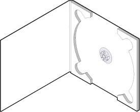 CD用 紙ケース ポケット無し(白)+OPP袋 50組セット/CD-032 /マルゲリータ