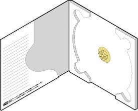 CD用 紙ケース ポケット付き 定形郵便対応(白)+専用封筒 50組セット/CD-035 /マルゲリータ
