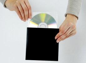 CD保管用 厚紙ジャケット(黒)+不織布ダブルポケット 100組セット/CD-037 /マルゲリータ