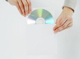 CD保管用 厚紙ジャケット(白)+不織布ダブルポケット 100組セット/CD-038 /マルゲリータ