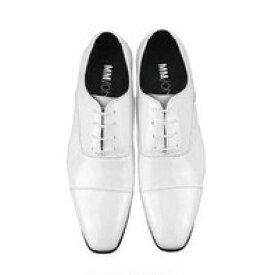 靴 新郎 シューズ 白 フォーマル (フォーマルシューズ ブライダルシューズ ウエディング メンズ 男性 小物 フォーマル)ホワイト [M24]【送料無料】