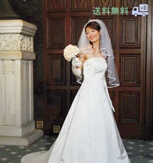 Piping three colors white / off-white / ivory (wedding Wedding Veil Wedding Veil wedding wedding dress) [Y02] made in wedding veil short veil Japan