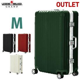 スーツケース キャリーケース キャリーバッグ キャリーバック ダブルキャスター 8輪 M サイズ 5日 6日 7日 OKOBAN LEGEND WALKER GRAND レジェンドウォーカー グラン 『W2-5601-64』