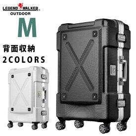 【クーポンで更にお得!】スーツケース M サイズ PC100% キャリーケース キャリーバッグ キャリーバック 旅行用かばん 中型 新作 5日 6日 7日 無料受託手荷物 158cm 以内 アウトドア シボ加工 LEGEND WALKER レジェンドウォーカー 『6303-62』