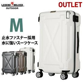 【期間値下げ】 【アウトレット】 スーツケース キャリーケース キャリーバッグ M サイズ 超軽量 PC100%素材 フレーム キャリーバック 旅行用かばん 中型 5日 6日 7日 無料受託手荷物  158cm 以内 『B-6304-61』