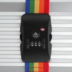 スーツケースベルトキャリーケースベルトキャリーバッグベルトラゲッジベルトスーツケースと同時購入限定特価TSAロックダイヤルロック式ストライプカラーLEGENDWALKER【旅行小物】『SB791』