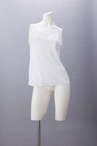 【メール便送料100円】日本製キャミソール63cm丈シンプルデザイン【Mサイズ】肩ひも長さ調節機能付き透け防止肌着静電気防止透けないアンダーウェアブライダルMARIICLUB/マリイクラブ10P01Jun14