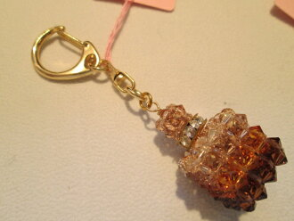 Swarovski perfume bottle key chain gift glitter rondel souvenir women