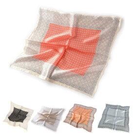 訳あり シルクスカーフ お嬢様仕様ネッカチーフサイズ約50cm正方形エピグラムのようなデザイン