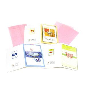 メッセージカード縦長秋冬色ポッピンググリーティングカードギフトカード3枚セットThanks You3デザインセット