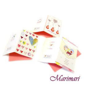 メッセージカード 3枚セットポッピンググリーティングカードフラワーベースハート模様ギフトカードEspecially for youwish you happiness色々使える3デザインワンセット封筒付き