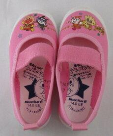 日本製アンパンマンバレーシューズ(上履き)ピンク(バレエシューズ)