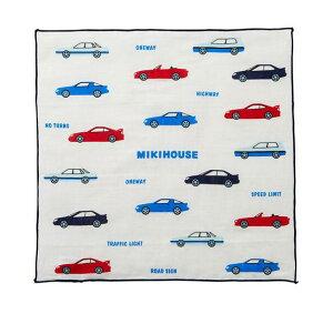 ミキハウス ガーゼハンカチ【ワーキングカー】15-4097-260(19)日本製