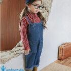 韓国子供服デニムオーバーオールサロペットつなぎナチュラル韓国子供服男の子韓国こども服女の子キッズオールインワン90cm100cm110cm120cm130cm