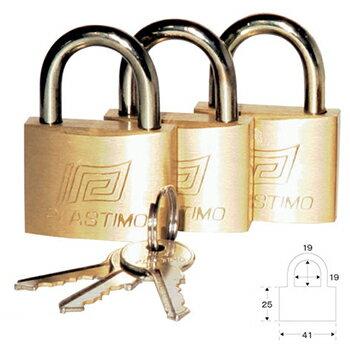 プラスチモ パッドロック(共通キー)3個セット L