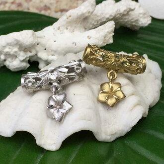 十四 K 夏威夷珠宝管 x 鸡蛋花吊坠 / 夏威夷配件 14 金黄金 fs04gm