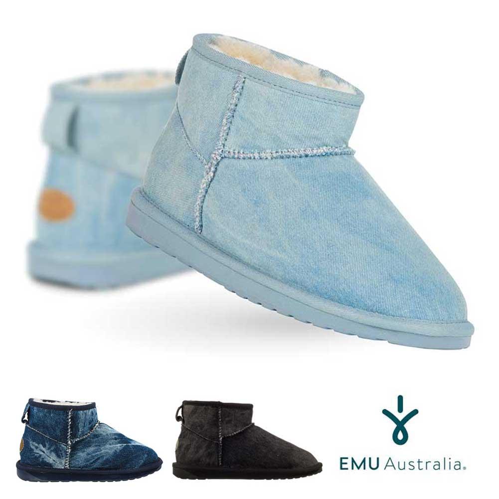 EMU シープスキンブーツ STINGER DENIM MICRO スティンガーデニムミクロ/ユニセックス ムートンブーツ【RCP】