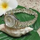 ハワイアンジュエリー シルバーブレスウォッチ プルメリア フック/ アクセサリー Hawaiian jewelry ハワジュ 腕時計 【RCP】【小型宅…