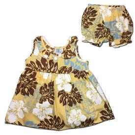 db081ccd76c62 ハワイアン ベビー パンツ付きワンピース イエロー 18ヶ月 幼児用 子供服 キッズ