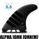 FUTURES FIN ALPHA JOHN JOHN M ジョン・ジョン・フローレンステンプレート/トライフィン  3フィン ショートボードフィン サーフィ…