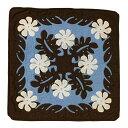 ハワイアンキルト  45cm×45cm用クッションカバー ブラウン×ブルー/Hawaiianquilt インテリア ハワイアン雑貨