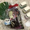 【平日13時までのご注文は当日発送】 バレンタインギフト ミニカー リトルバンパステルカラー×チョコバーセット Little Van