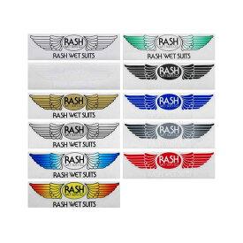 【平日13時までのご注文は当日発送】 RASH ラッシュ 羽ステッカー Mサイズ サーフブランドウェア サーフィン ステッカー