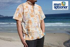 【平日13時までのご注文は当日発送】 アロハ ハワイアン ユーズド reyn spooner レインスプーナー REYN SPOONER 半袖 アロハシャツ ハワイアンサーファー柄