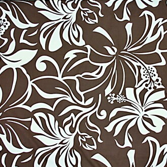 Hawaiian fabric Brown / hibiscus pattern / Pau skirt Hula