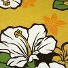 夏威夷布黃色棕色芙蓉和雞蛋炮仗花裙子面料呼啦圈 fs04gm