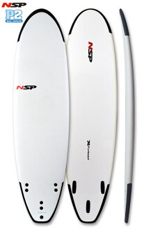 """NSP 衝浪板 Softboard 軟學校繽紛 7 ' 4""""/ 初學者衝浪板的軟衝浪板衝浪 fs04gm"""