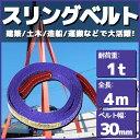スリングベルト 4m 幅35mm 使用荷重1t ベルトスリング 繊維ベルト 吊りベルト クレーンベルト 帯ベルト 吊り上げ ナイ…