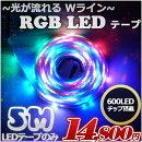 【Wライン爆光】【延長】光が流れるRGBLEDテープライト5m600LED最大25M延長可能単体販売防水加工133点灯パターンリモコン付きSMD5050LEDテープパターン記憶型調光ピンクイルミネーション