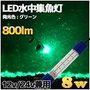 緑色LED水中集魚灯8w800LMグリーン12v用LED集魚灯船舶ライト船舶夜釣り釣果