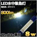 白色LED水中集魚灯8w800LMホワイト12v/24v兼用LED集魚灯船舶ライト船舶夜釣り釣果