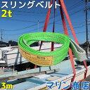 スリングベルト 3m 幅50mm 使用荷重2t ベルトスリング 繊維ベルト 吊りベルト クレーンベルト 帯ベルト 吊り上げ ナイ…