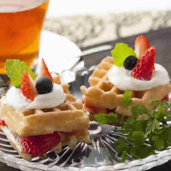 【アメリカンワッフル】ワッフル アメリカンワッフル ホイップクリーム セット スイーツ お菓子 デザート 6枚入り 直径12cm マリンフード