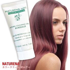 白髪染め ヘアカラーリングクリーム カラートリートメント ボルドー 赤色 ヘナカラー 女性用 男性用 全体用 部分用 100g 1本 ヘアカラー ヘアカラートリートメント