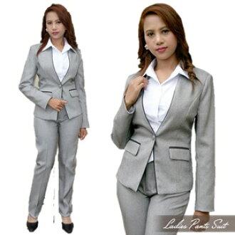 褲裝西裝! 形式上的募集西服非常便宜的女士褲裝西裝畢業式入學儀式辦公室新鮮西服制服706