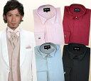 【タキシード用シャツ】ウイングカラーシャツ! 【カフスボタン付】★送料無料★ドレスシャツ(カラー)、ウイングカラ…