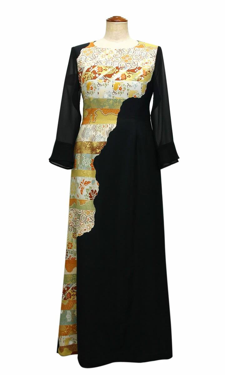 一点物の正絹留袖ドレス【着物リメイクドレス】【和ドレス】