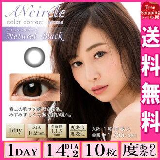 1箱Ancircle 1day安小组一日天然黑色的10度有,没有度的DIA:一次性14.2 1天的有色隐形眼镜(有色隐形眼镜)(有色隐形眼镜)(小组)(环)(杉原杏璃)