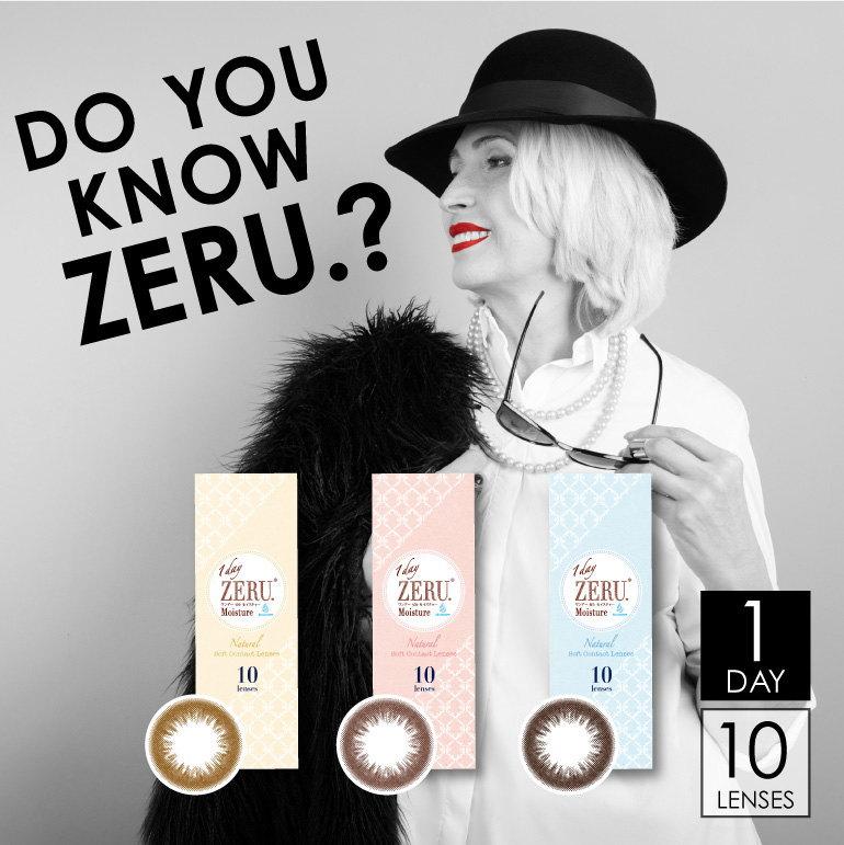 カラコン ワンデー ゼル モイスチャー 1day ZERU moisture 度あり 度なし (1箱10枚) ダークブラウン ライトブラウン ブラウン zeru ゼルワンデー