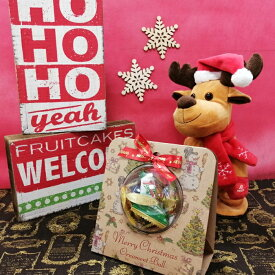 クリスマス クラフト ボール型 オーナメントギフト 30g クッキー キャンディー チョコレート (約7個入り)