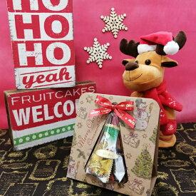 クリスマス クラフト ツリー型 オーナメントギフト 30g クッキー キャンディー チョコレート (約7個入り)